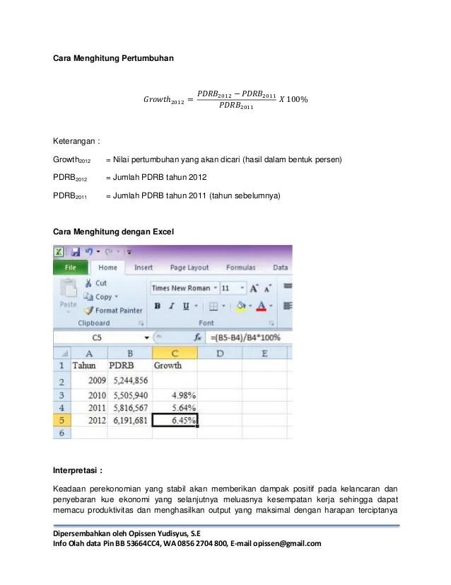 Cara Menghitung Persentase Pertumbuhan Di Excel : menghitung, persentase, pertumbuhan, excel, Menghitung, Pertumbuhan