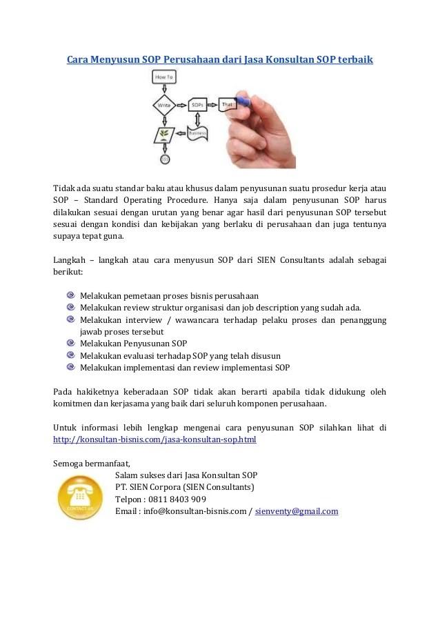 Cara Pembuatan Sop : pembuatan, Menyusun, Perusahaan, Konsultan, Consultant, SOP…