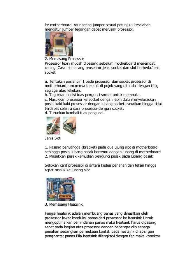 Fungsi Jumper Pada Motherboard : fungsi, jumper, motherboard, Merakit, Computer