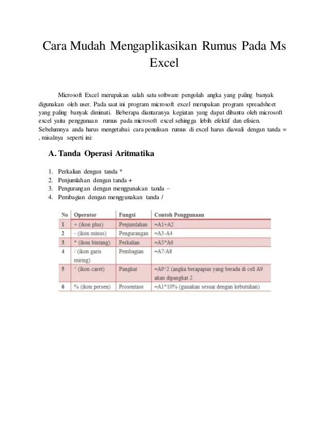 Fungsi Pengolah Angka Dan Contohnya : fungsi, pengolah, angka, contohnya, Mudah, Pengaplikasian, Rumus, Excel