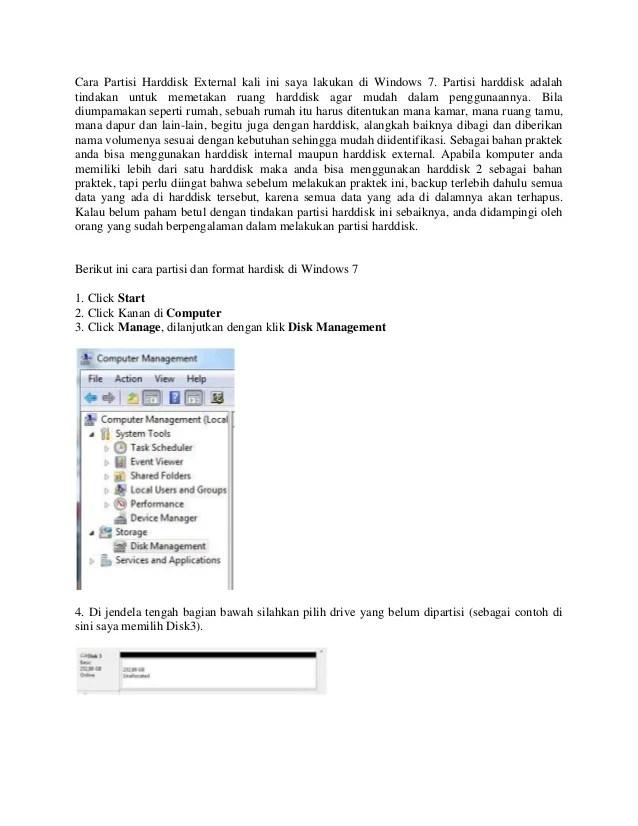 Cara Partisi Windows 7 : partisi, windows, Partisi, Harddisk, External, Lakukan, Windows
