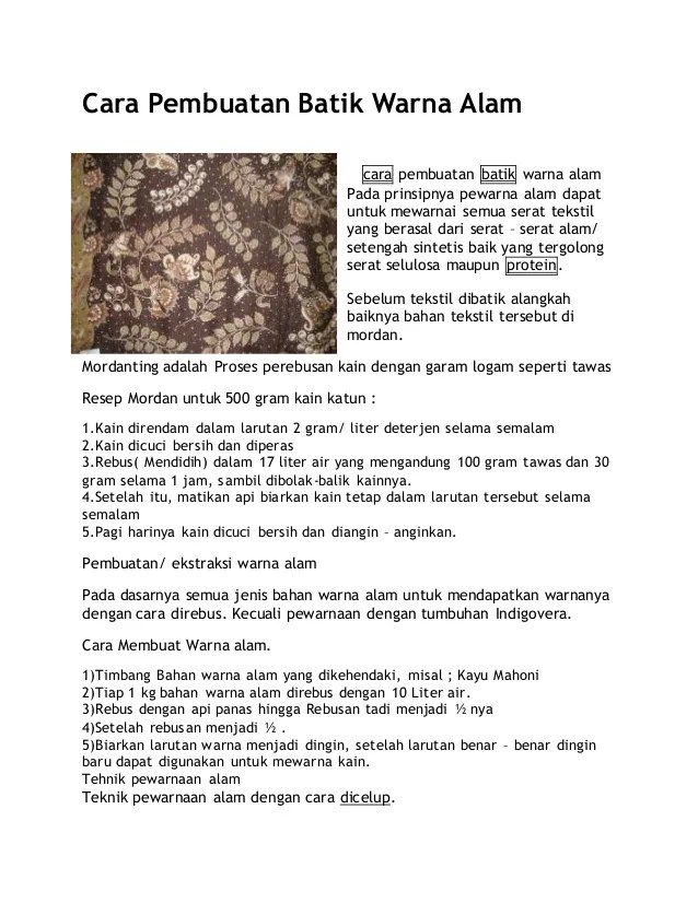 Langkah-langkah Pembuatan Batik : langkah-langkah, pembuatan, batik, Pembuatan, Batik, Warna