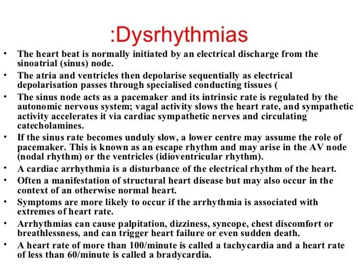 Cardiac Dysrhythmias.