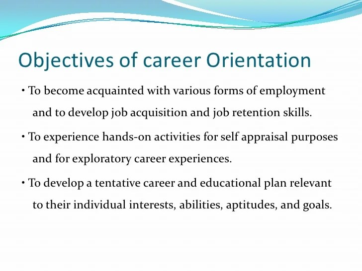 job goals and objectives