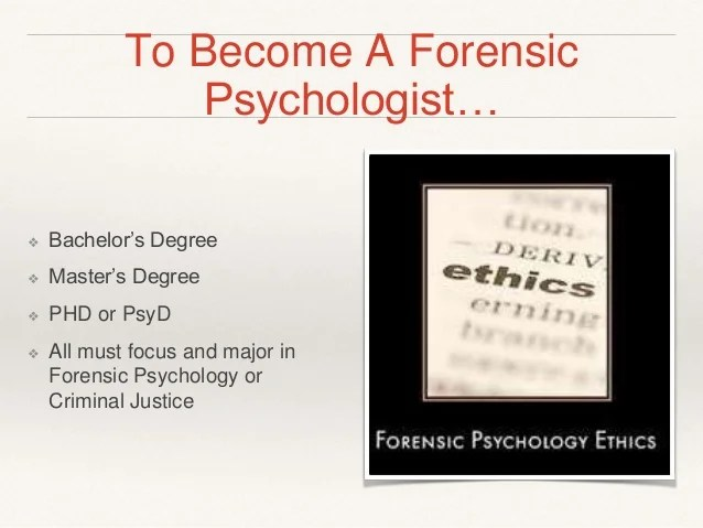 Career Path Forensic Psychology