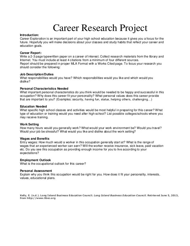 Career Research Paper Apa Format Verbs Homework Ks1
