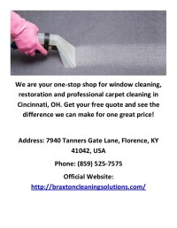 Braxton Cleaning Solutions : Carpet Cleaners in Cincinnati, OH