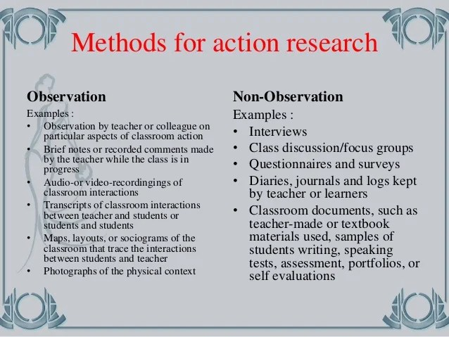 Sample Action Research Papers In Education Coursework Academic