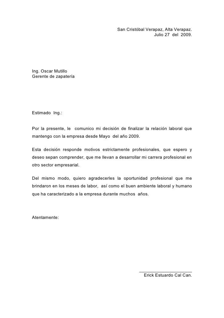 Formato De Carta Formal En Ingles Word Resume Template