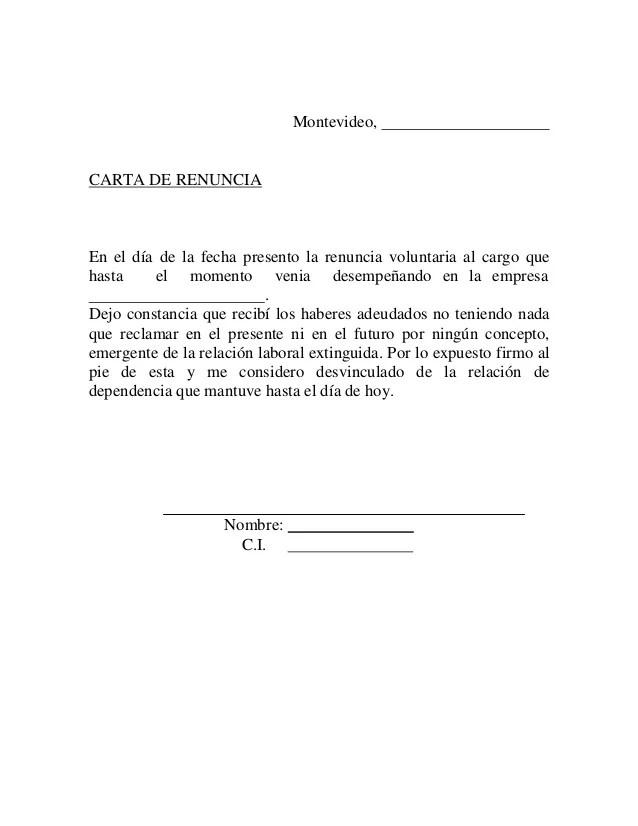 Formato De Carta Renuncia Voluntaria Reference Letter