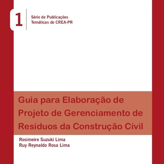 Resultado de imagem para publicação crea pr residuos da construção civil