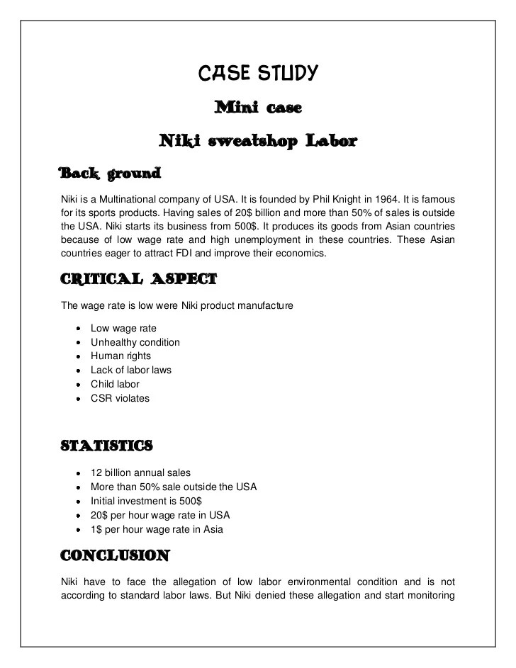 Written Case Study Exercise â€' Legal case studies and written exercises
