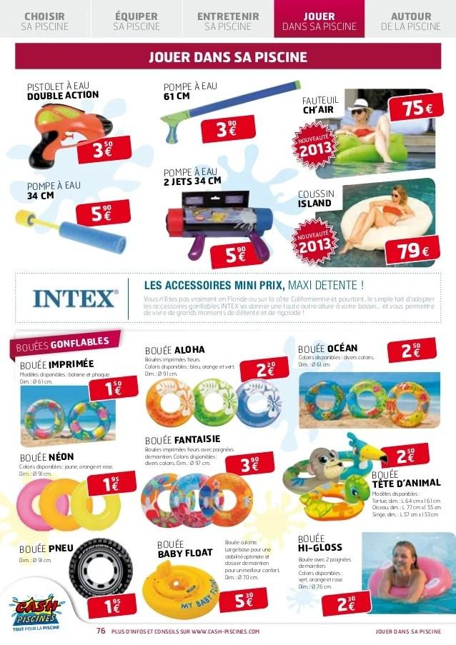 Cash Piscines Catalogue 2013 Jouer Dans Sa Piscine