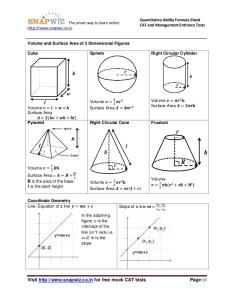 Surface area and volume formula sheet also nurufunicaasl rh