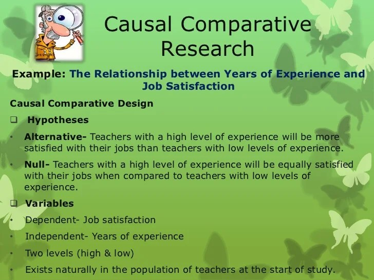 causal comparative research design