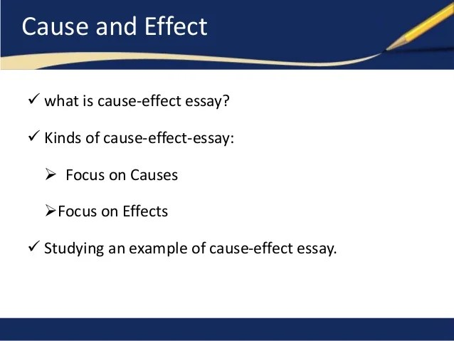 how to end a cause and effect essay