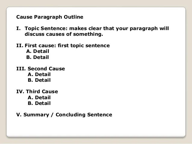 Cause & Effect Paragraph