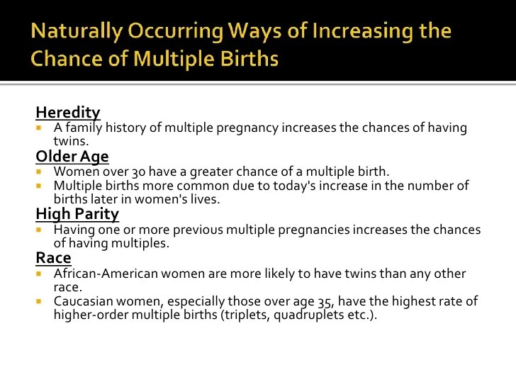 Causes & Complications Of Multiple Births