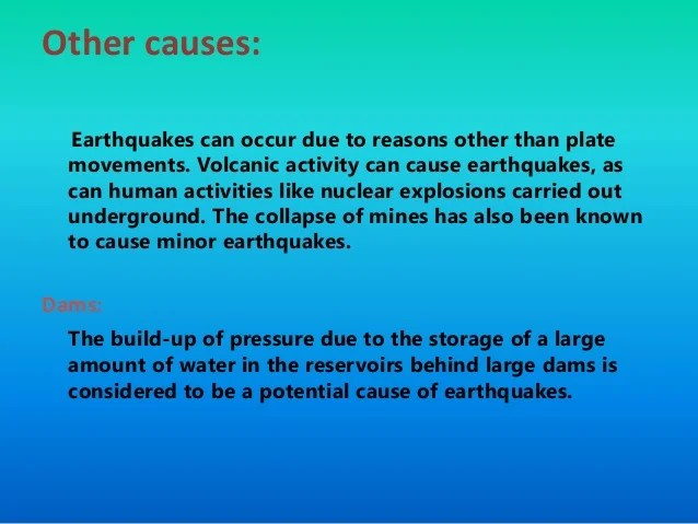 Causes Effects And Precautions Against Earthquake