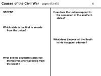 Printables. Causes Of The Civil War Worksheet. Mywcct ...