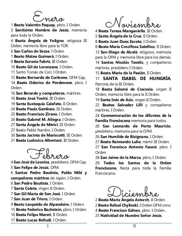 Calendario Con Santos.Con Calendario Mexicano Santos Febrero