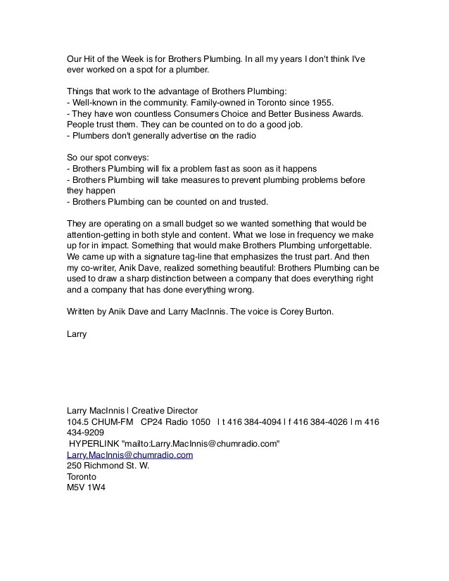 Reference Letter L M Chum FM Creative Director