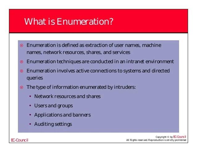 Ceh v5 module 04 enumeration