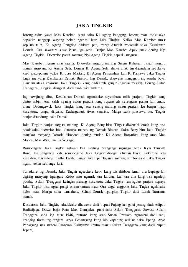 Cerita Rakyat Jaka Tingkir : cerita, rakyat, tingkir, Kumpulan, Cerita, Rakyat, Dalam, Bahasa