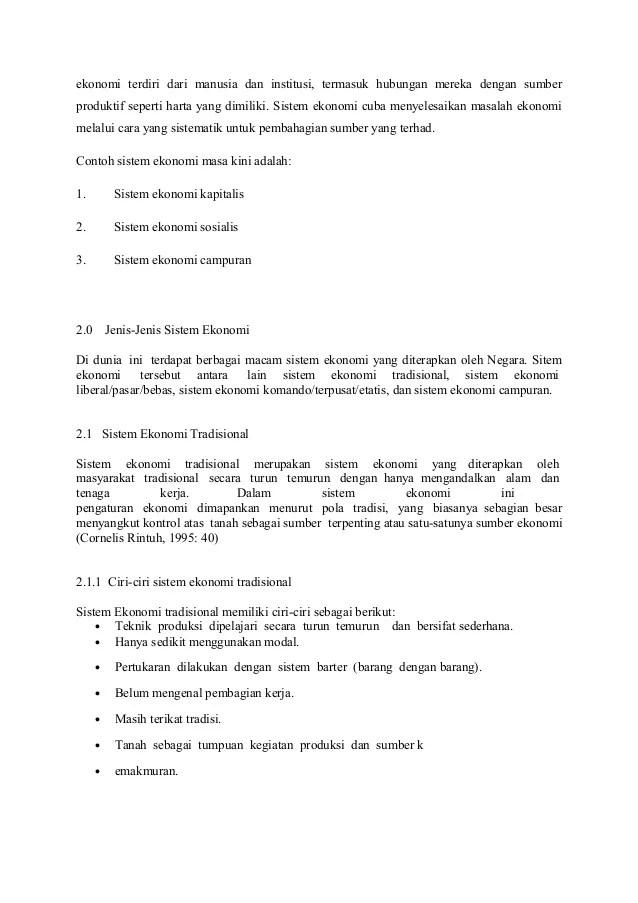 Tuliskan Ciri-ciri Sistem Ekonomi Tradisional : tuliskan, ciri-ciri, sistem, ekonomi, tradisional, Cerita, Tentang, Sistem, Ekonomi