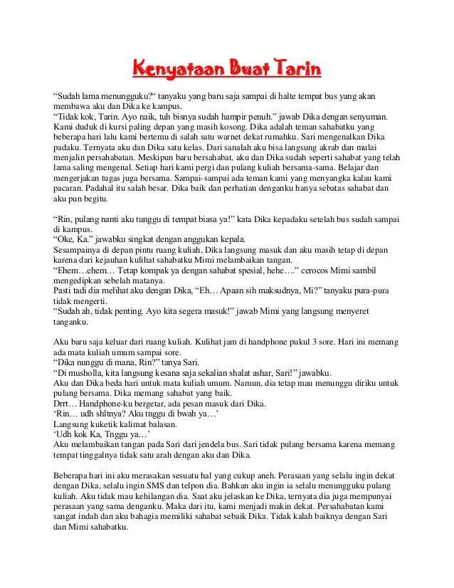 contoh novel remaja artikel pendidikan naskah drama contoh ...