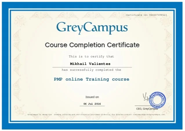 Greycampus Project Management Professional Course