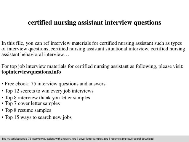 Certified Nursing Assistant Interview Questions 1 638 Jpg Cb 1409874763. Nursing  Assistant Interview Questions And Answers ...