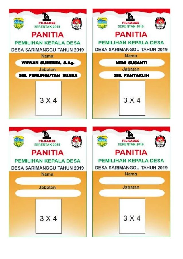 Contoh Kokarde Panitia : contoh, kokarde, panitia, Contoh, Ukuran, Panitia, Cute766