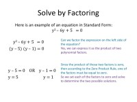 Solving Quadratic Equations By Factoring Examples With ...