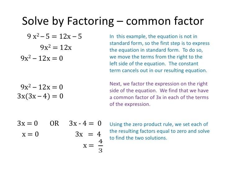 how to solve quadratic written equations