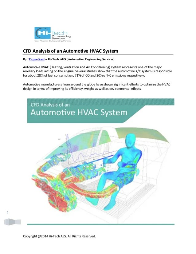 automotive hvac diagram chrysler wiring diagrams schematics cfd analysis of an system copyright 2014 hi tech aes all rights reserved