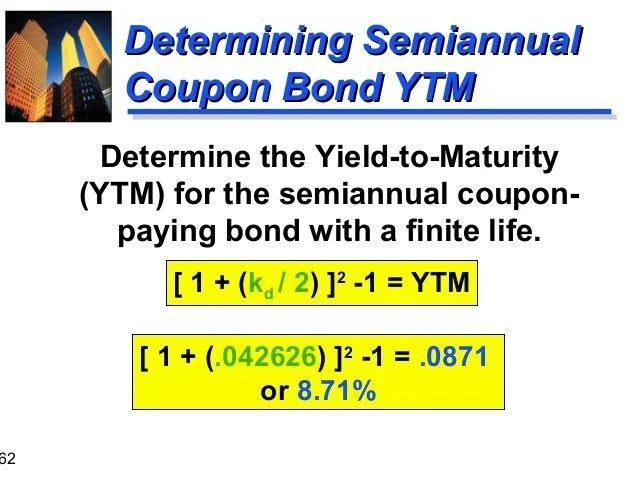 semiannual bond calculator