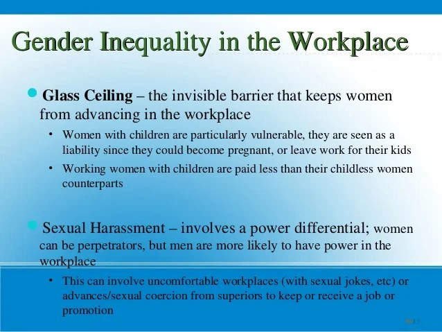 Female Discrimination in the Workplace
