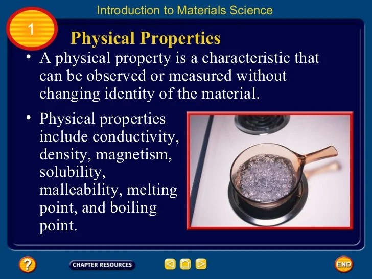 Matter Physical Properties And Change