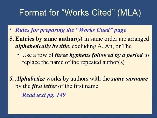 Writing The Research Paper A Handbook 7th Ed Ch 9 Mla