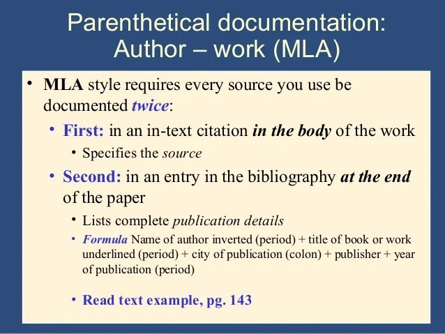 Writing The Research Paper A Handbook 7th Ed Ch 9 Mla