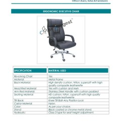 Executive Office Chairs Specifications Hanging Chair White Dealer In Mumbai Manufacturing Repairing Of All Type Offic
