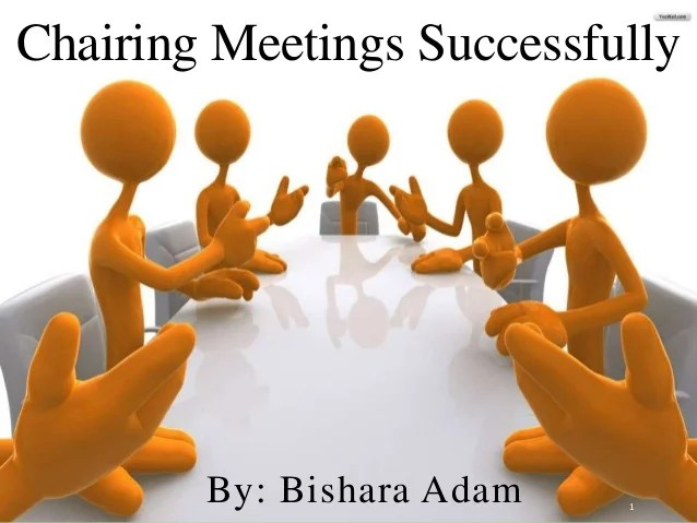 Chairing Meetings Successfully