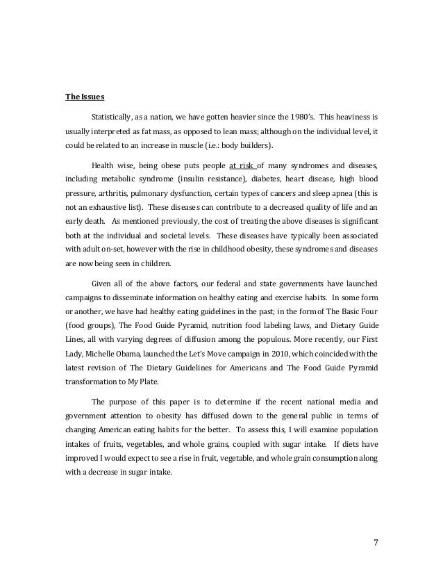 Research Paper In Food And Nutrition