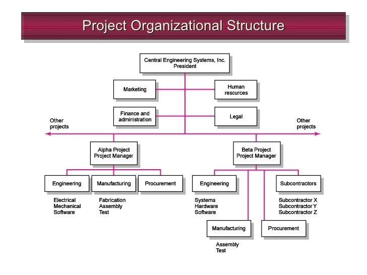 project organizational structure also chap organization rh slideshare