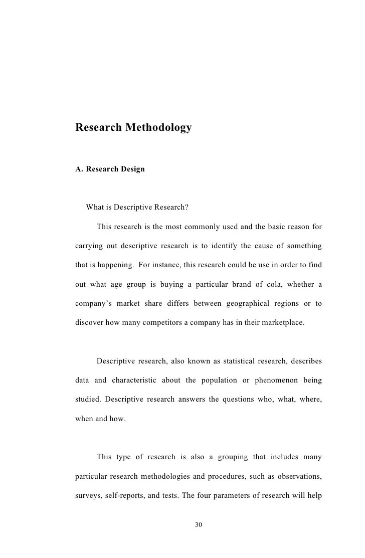 Research Methodologya. Research Design What Is