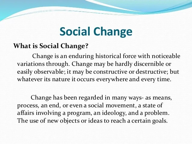 Chapter 21 Social Change