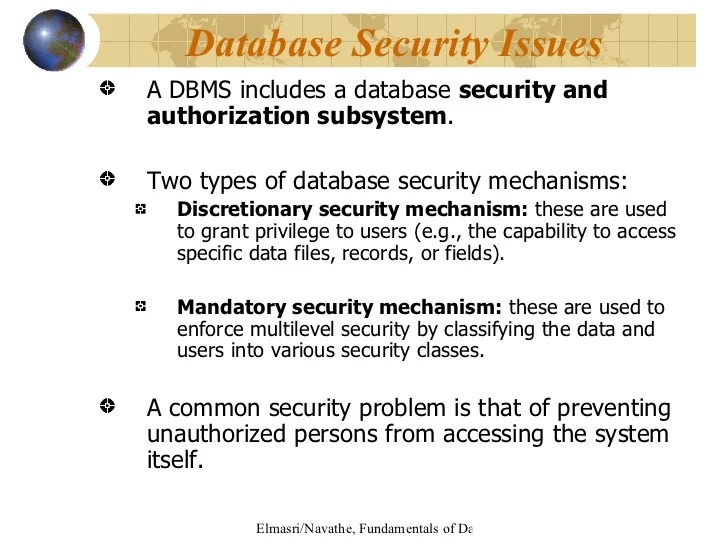 Database Security Mechanism