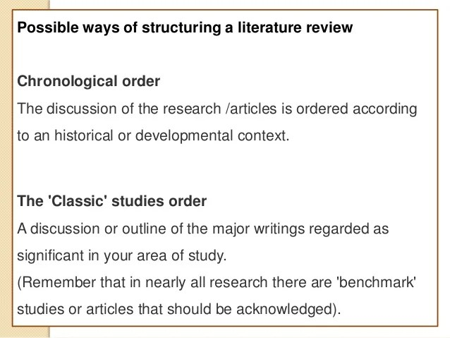 Basis of search and literature structure 2