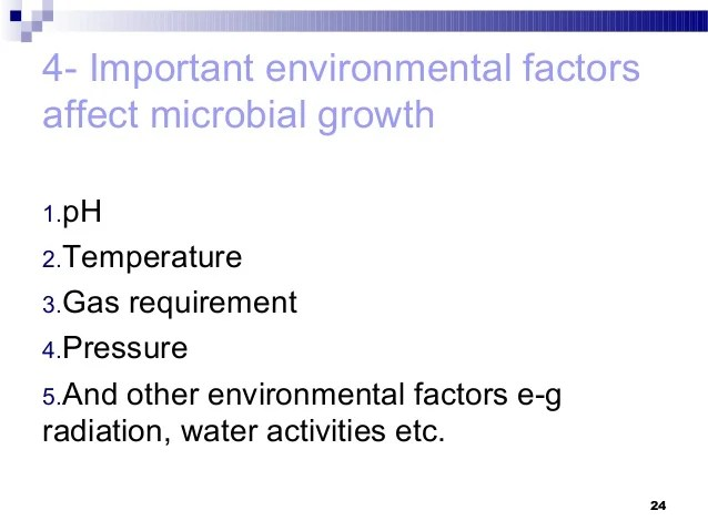 microbial growth factors